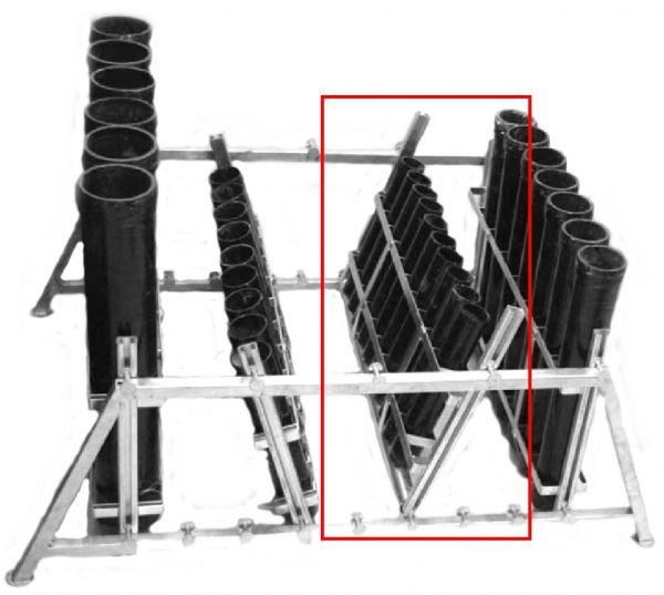 Mörser-Rack Stahl verzinkt für 11 x 2 Mörser
