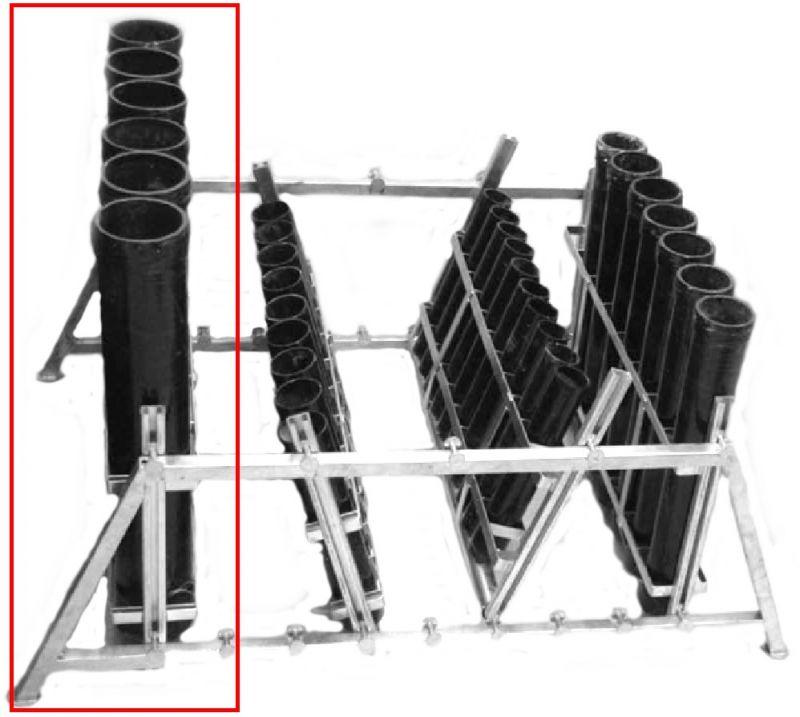 Mörser-Rack Stahl verzinkt für 6 x 4 Mörser