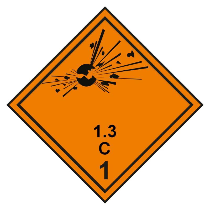 Gefahrgutaufkleber Explosionsgefährlich 1.3C