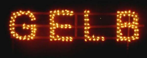Figurenlichter GELB T1 NC Raucharm 60 sec. 25 Stück