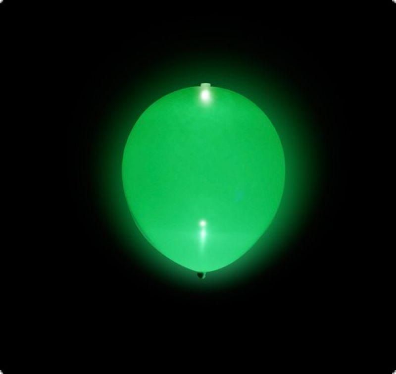 LED Luftballons Grün 5 Stück