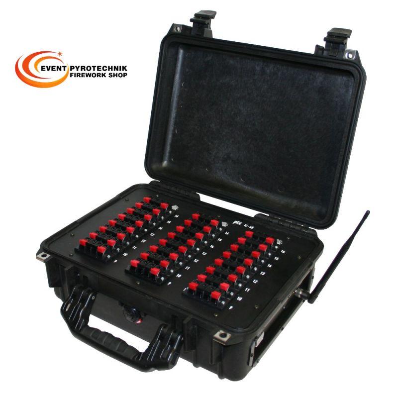Pyrotronix ptx Radio IC 48 Zündbox im Pelicase