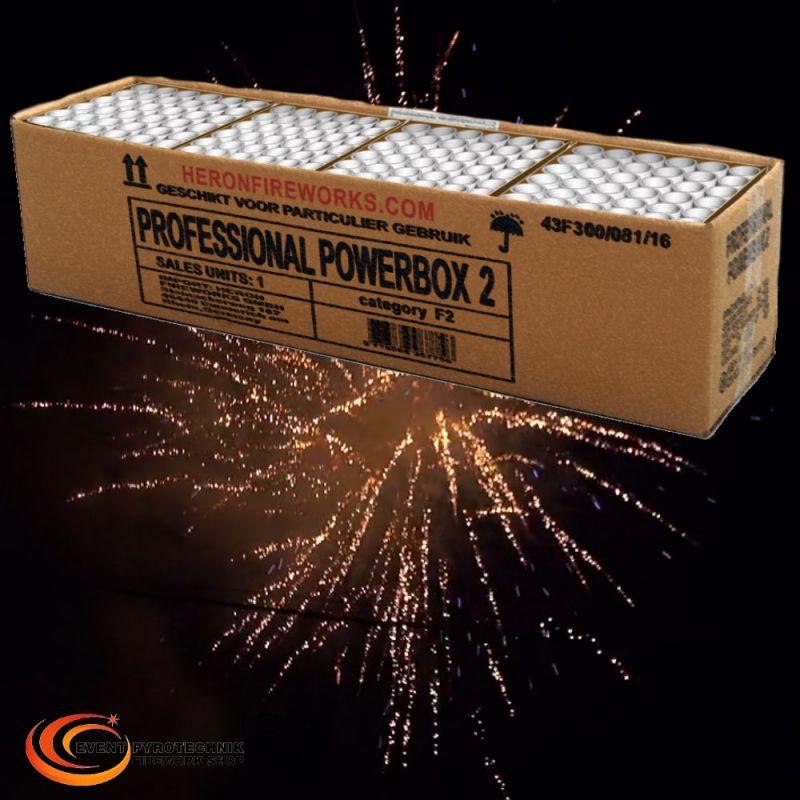 Verbundfeuerwerk Heron Professional Powerbox 2, 144 Schuss - ca. 100 sec.