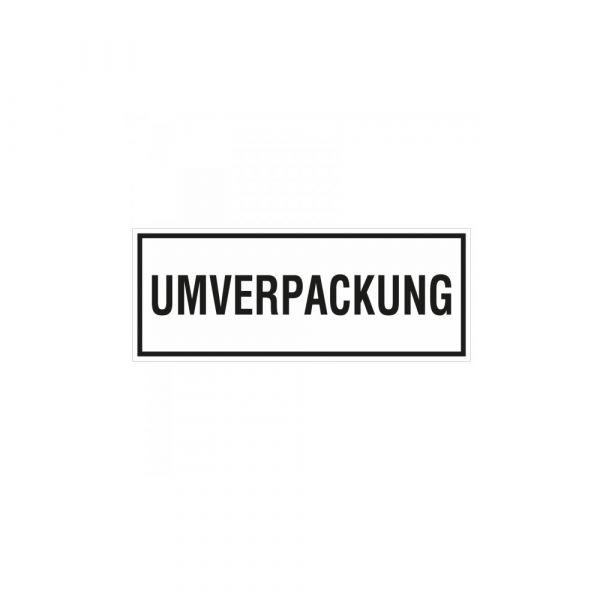Aufkleber Umverpackung Verpackungskennzeichen 14 x 5,5 cm