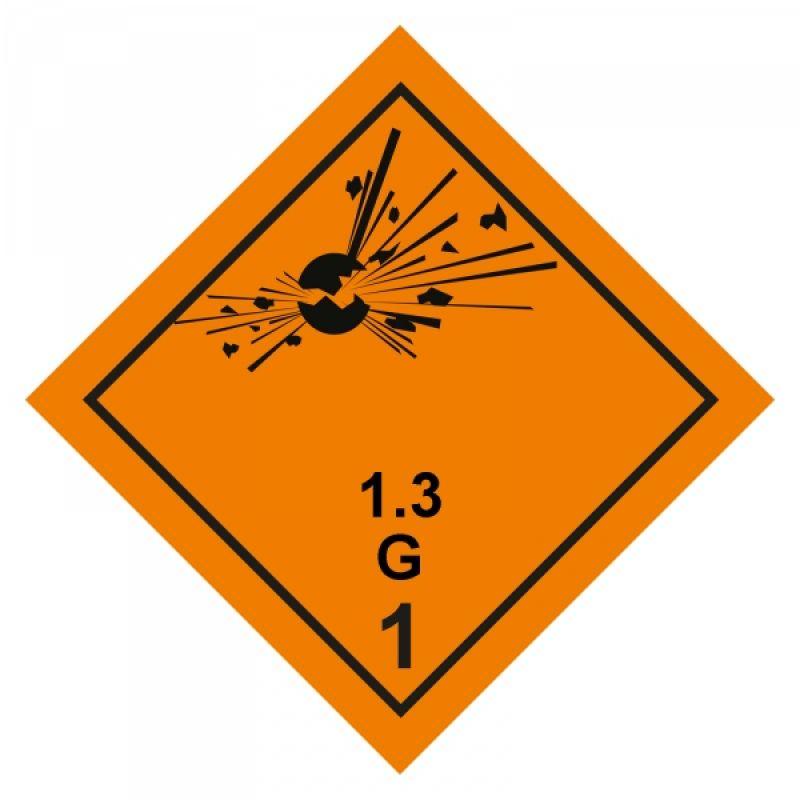 Gefahrgutaufkleber Explosionsgefährlich 1.3G
