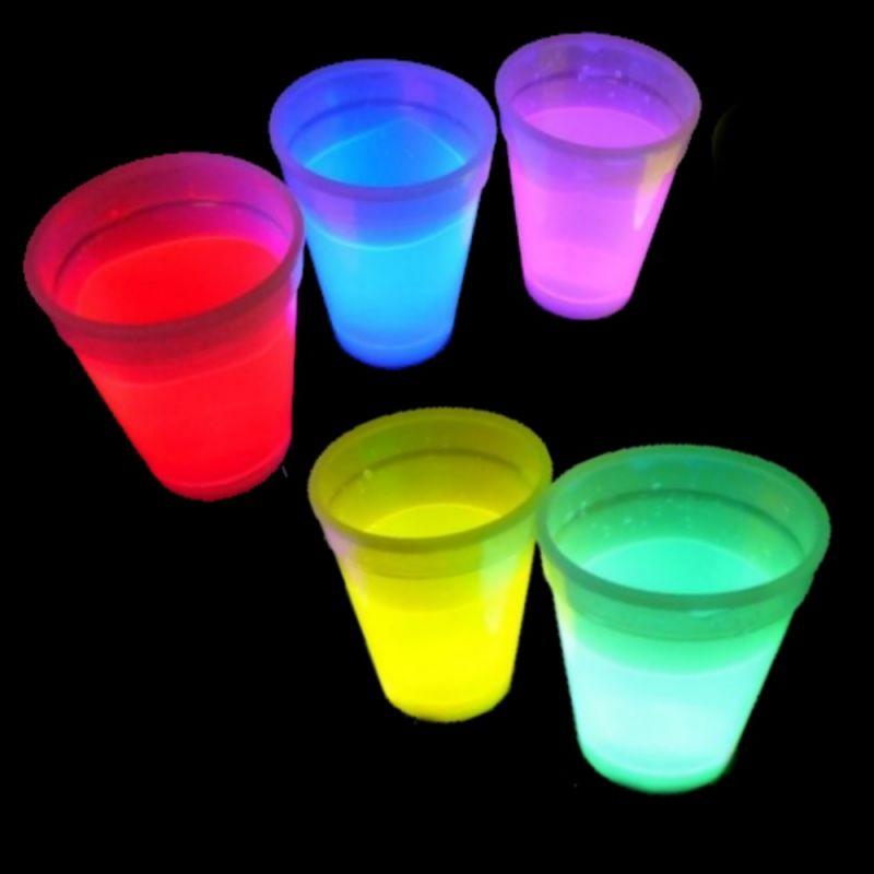 Knicklicht Becher 350 ml 5 Stück Farb-Mix