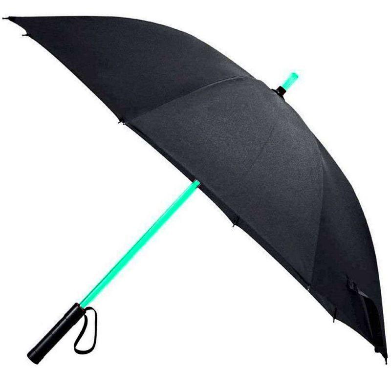 LED Regenschirm mit 7 Farben & Taschenlampe