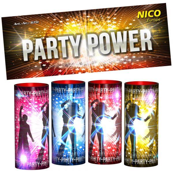 Nico Tischbomben Tischfeuerwerke Party Power 4 Stück - F1