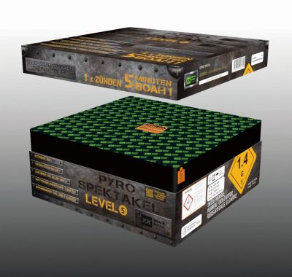 Pyro Spektakel Level 5 Blackboxx Verbundfeuerwerk 5min. 165 Schuss
