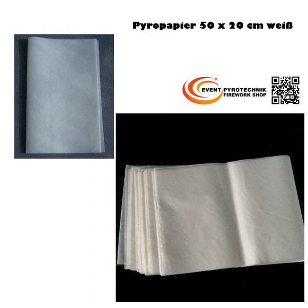 Pyropapier NC Papier 20x50cm weiß