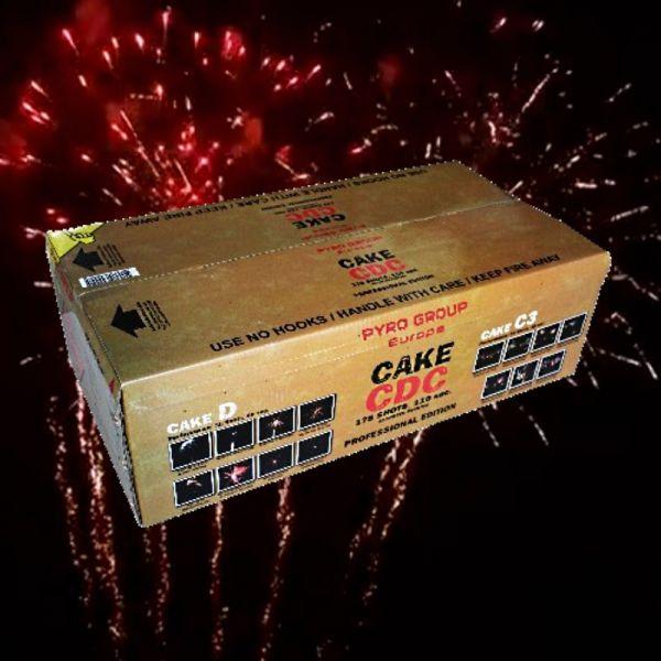 PGE 300 Cake CDC Verbundfeuerwerk ca. 120 sec.