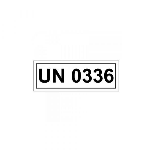 Aufkleber UN 0336 Verpackungskennzeichen 14 x 5,5 cm