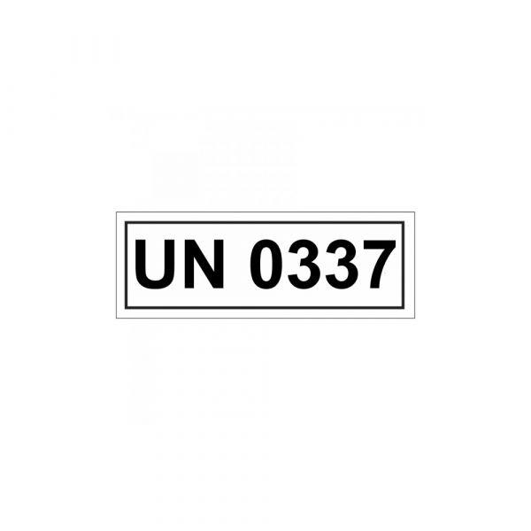Aufkleber UN 0337 Verpackungskennzeichen 14 x 5,5 cm