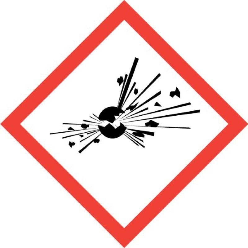 GHS Symbol 01 Bombe Explosiv Aufkleber