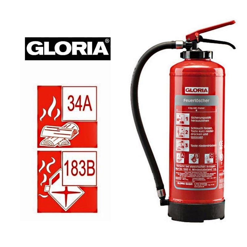 Gloria ABC Pulver Feuerlöscher P6 EASY 6Kg