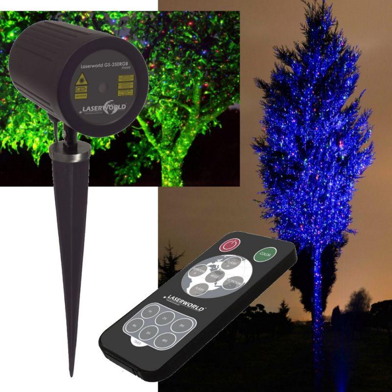 Laserworld Gartenlaser GS-250RGB move mit Fernbedienung