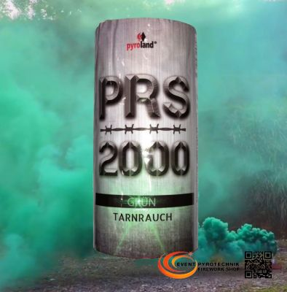 PRS2000 Tarnrauch Mega Rauchtopf mit Reißzünder Grün 100 Sek. - T1