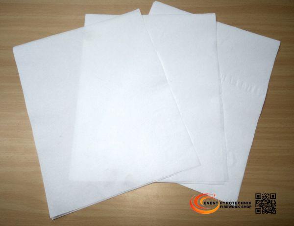 Pyropapier NC Papier 20x25cm Dick, weiß