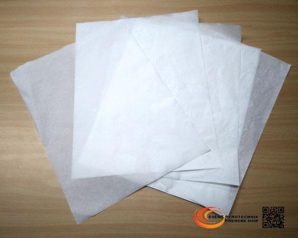 Pyropapier NC Papier 20x25cm Dünn, weiß