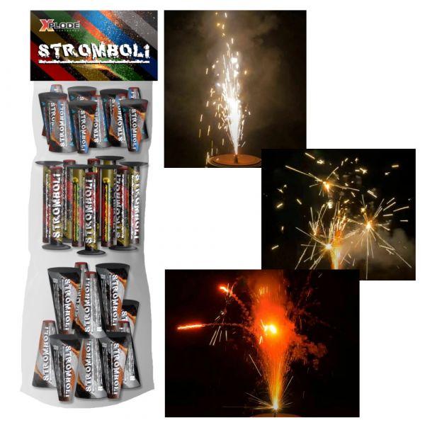 Xplode Stromboli 30-tlg. Fontänen und Vulkansortiment - F1