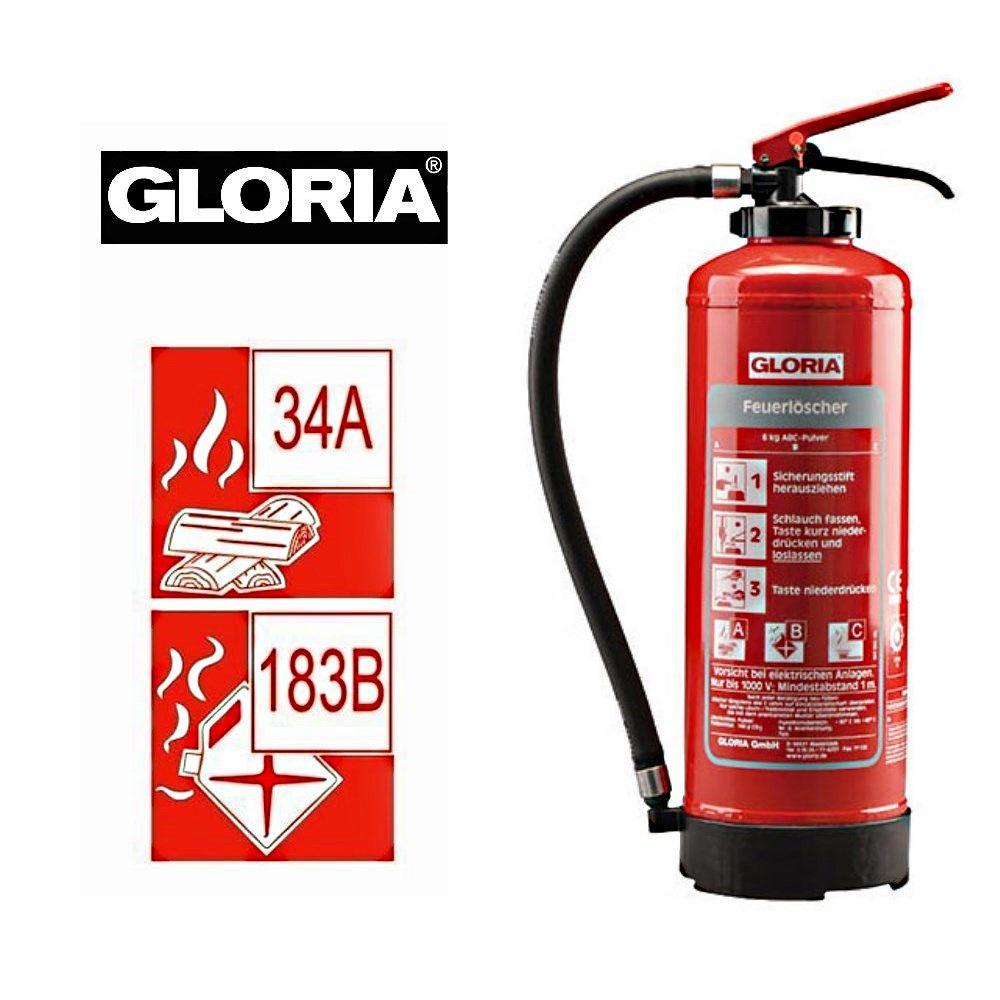 Relativ Gloria ABC Pulver Feuerlöscher P6 EASY 6Kg - Firework-Shop.de ZL28