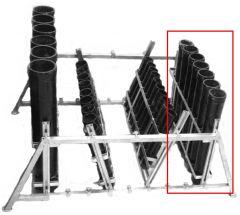 Mörser-Rack Stahl verzinkt für 8 x 3 Mörser