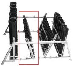 Mörser-Rack Stahl verzinkt für 9 x 2,5 Mörser