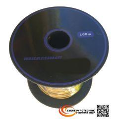 100m Zündleitung für Pyrotechniker Pyrokabel 2-adrig 0,45mm