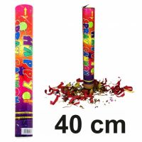 Druckluft Konfetti Shooter XL bunt 40cm Konfettikanone Party