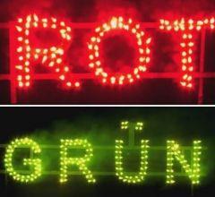 NICO Europe Lichterlanzen Figurenlichter ROT zu GRÜN T1 NC Raucharm 60 sec. 800 Stück