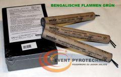 WECO Bengalische Zylinderflamme GRÜN - 4 min