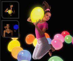 LED Luftballons Gelb 5 Stück