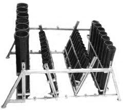 Mörser-Rack Stahl verzinkt für 3 x 7 Mörser