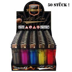 50 Einwegfeuerzeuge MyFire Farb Mix