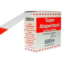 Absperrband  Flatterband 500 m x 80 mm Rot / Weiß