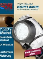 7 LED Kopflampe Stirnlampe Power-Line