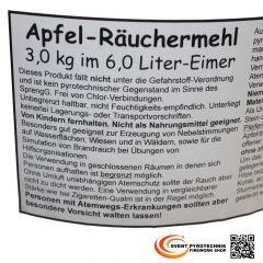 Apfel Räuchermehl SFX 3 Kg - 6 Liter Eimer