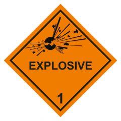 Gefahrgutaufkleber Explosionsgefährlich EXPLOSIVE