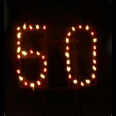 Bausatz Lichterbild Feuerschrift 2 Buchstaben oder Zahlen