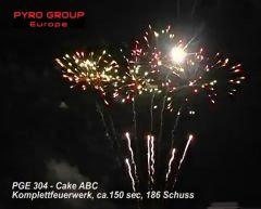 PGE 304 Cake ABC Verbundfeuerwerk ca. 150 sec.