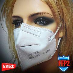 FFP2 Atemschutz Masken CE EN149:2001 + A1:2009 - 5 Stk.