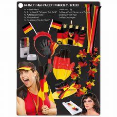 Fan-Set Fußball WM EM Olympia Deutschland Frauen Fanartikel Paket 11-tlg