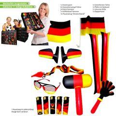 Fan-Set Fußball WM EM Olympia Deutschland Männer Fanartikel Paket 11-tlg