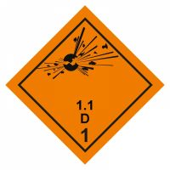 Gefahrgutaufkleber Explosionsgefährlich 1.1D
