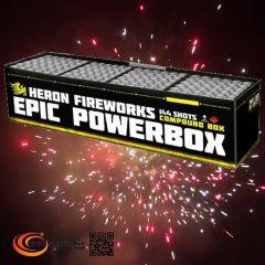 Verbundfeuerwerk Heron EPIC (Professional Powerbox 1), 144 Schuss - ca. 100 sec.