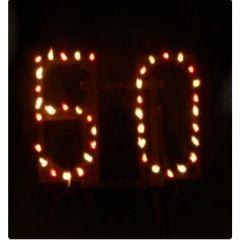 Komplett aufgebautes Lichterbilder Feuerschriften 2 Buchstaben oder 2 Zahlen