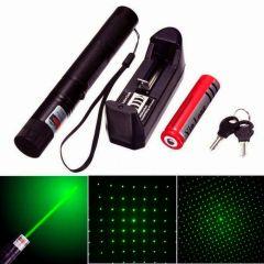 Laserpointer Grün Strahl und Sterneffekt Li-Ion Akku + Ladegerät