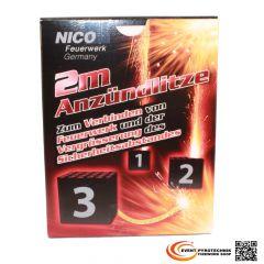 Anzündlitze Zündschnur NICO / WANO 2m - Brenndauer ca. 18-28 s/m.
