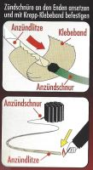 Anzündlitze NICO WANO 2m - Brenndauer ca. 18-28 s/m.