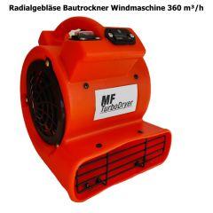 Radialgebläse Bautrockner Windmaschine 360 m³/h